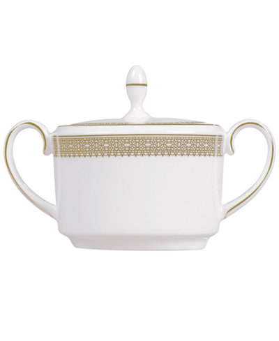 Vera Wang Wedgwood Dinnerware, Lace Gold Sugar Bowl