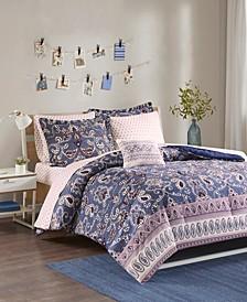 Intelligent Design Calico Full 8 Piece Comforter and Sheet Set