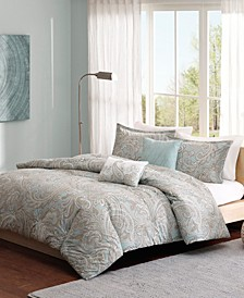 Madison Park Pure Ronan Full/Queen 5 Piece Cotton Duvet Cover Set