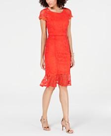 Thalia Sodi Short Sleeve Lace Dress