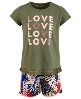 Toddler Girls Mesh-Hem T-Shirt, Created for Macy's