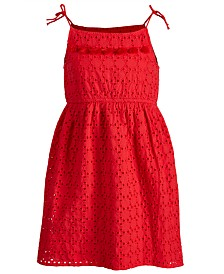 Epic Threads Little Girls Eyelet Tie Dress, Created for Macy's