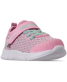 Skechers Toddler Girls' Comfy Flex - Sparkle Dash Athletic Sneakers from Finish Line