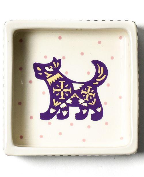 Coton Colors Chinese Zodiac Dog Square Trinket Bowl