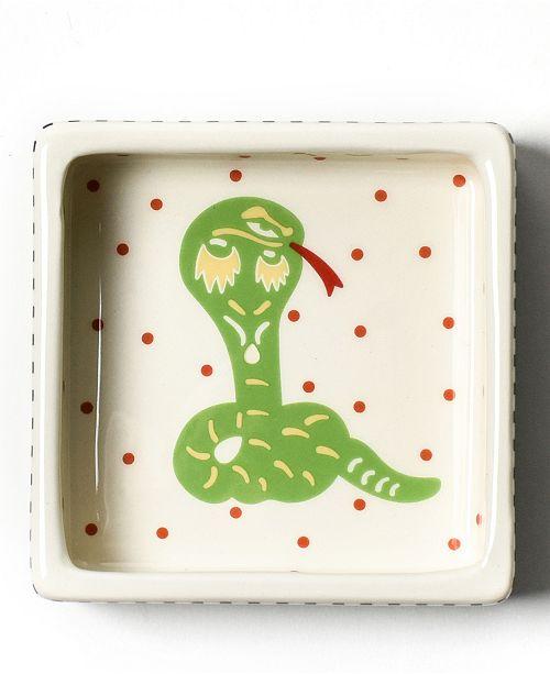 Coton Colors Chinese Zodiac Snake Square Trinket Bowl
