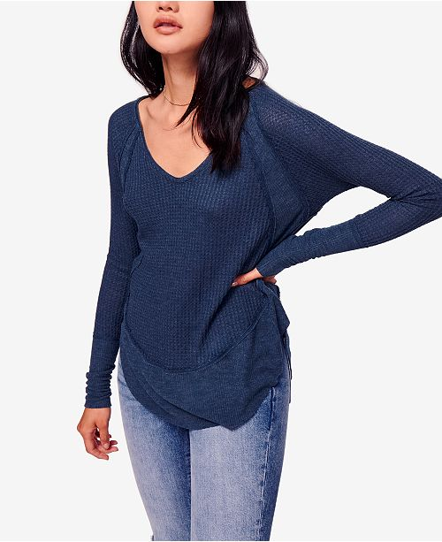 2891979aa07d Free People Catalina Long-Sleeve Thermal Top & Reviews - Tops ...