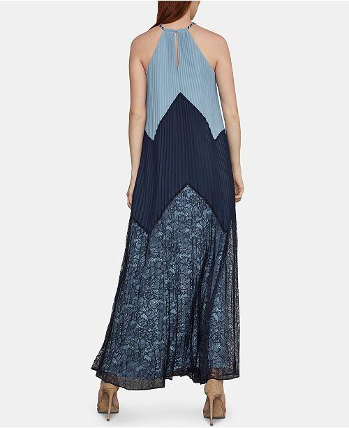 Combo Halter Robe ColorblockedCritiques Dark Navy Bcbgmaxazria Femme Fc1KJ3Tl