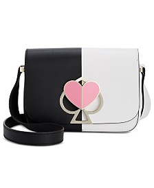 kate spade new york Nicola Bicolor Twistlock Mini Flap Leather Crossbody