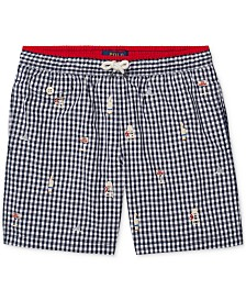 Polo Ralph Lauren Big Boys Gingham Swim Trunks