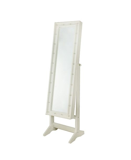 Firstime Co Cheval Free Standing Jewelry Armoire White Led Reviews Furniture Macy S