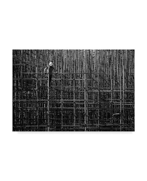 "Trademark Global Navid Mofidi 'Construction Lines' Canvas Art - 19"" x 12"" x 2"""