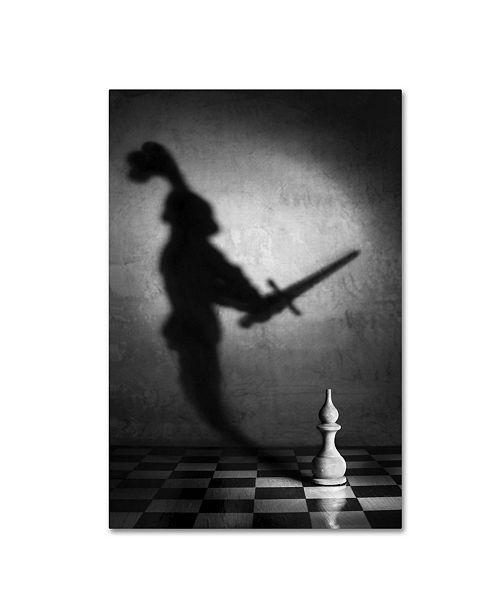 "Trademark Global Victoria Ivanova 'The Heart Of A Knight' Canvas Art - 19"" x 12"" x 2"""