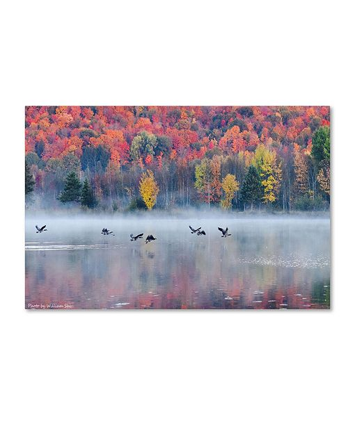 "Trademark Global William Shi 'Autumn' Canvas Art - 19"" x 12"" x 2"""