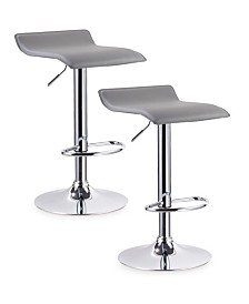Leick Home Favorite Finds Gray Adjustable Swivel Barstool-Set of 2