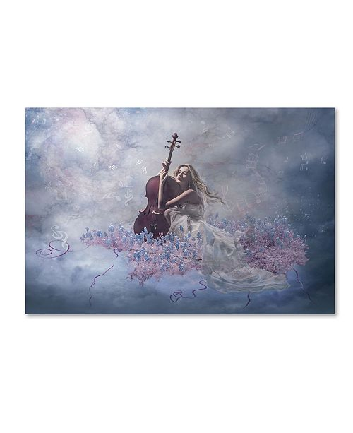 "Trademark Global Natalia Simongulashvili 'Music Of The Soul' Canvas Art - 19"" x 12"" x 2"""