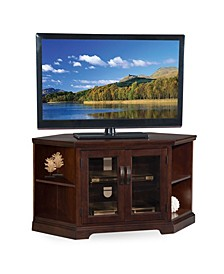 """Home Chocolate and Black Glass, 46"""" W TV Stand"""