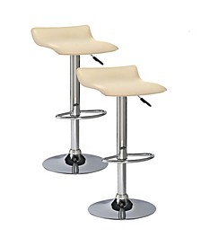 Home Favorite Finds Cream Adjustable Swivel Barstool-Set of 2
