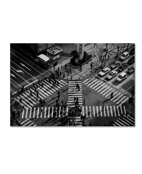 "Trademark Global CS Tjandra 'Intersection' Canvas Art - 47"" x 30"" x 2"""