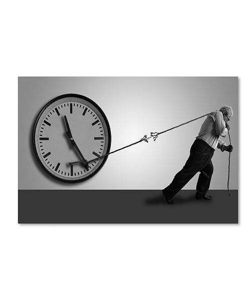 """Trademark Global Nader Farid 'Stop The Time' Canvas Art - 24"""" x 16"""" x 2"""""""