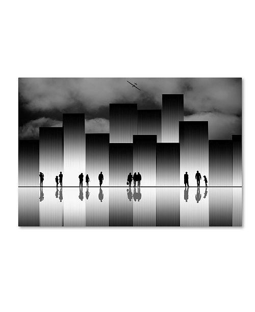 "Trademark Global Natalia Baras 'The Great City' Canvas Art - 47"" x 30"" x 2"""