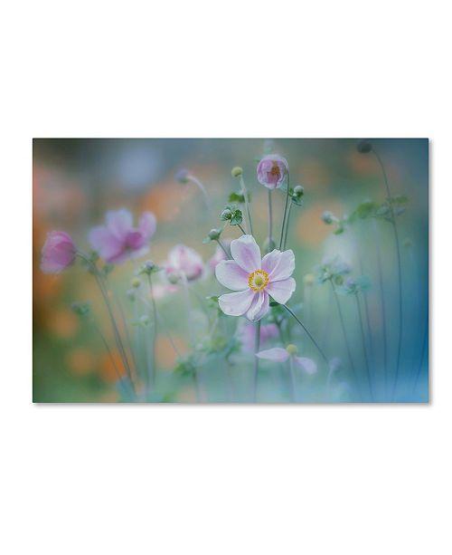 """Trademark Global Miyako Koumura 'Anemone' Canvas Art - 32"""" x 22"""" x 2"""""""