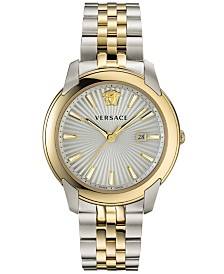 Versace Men's Swiss V-Urban Two-Tone Stainless Steel Bracelet Watch 42mm