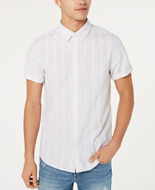 GUESS Men's Olsen Fleck Stripe Shirt