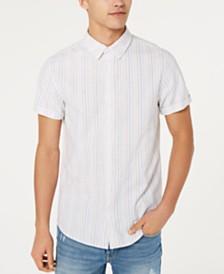 GUESS Men's Olsen Fleck Stripe Shirt