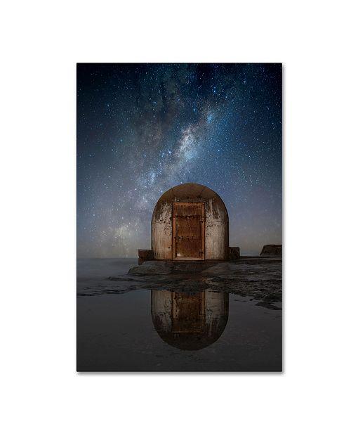 "Trademark Global Jingshu Zhu 'Lonely Hut' Canvas Art - 19"" x 12"" x 2"""