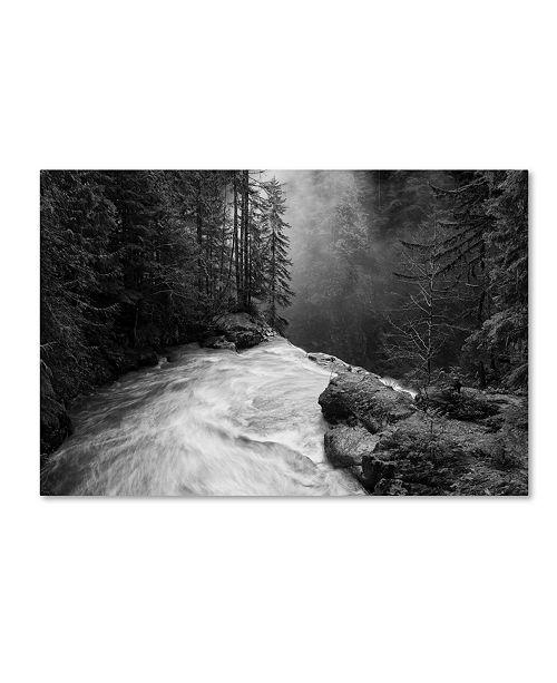 "Trademark Global James K. Papp 'Over The Falls' Canvas Art - 19"" x 12"" x 2"""