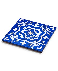 Martha Stewart Collection La Dolce Vita Blue Trivet, Created for Macy's