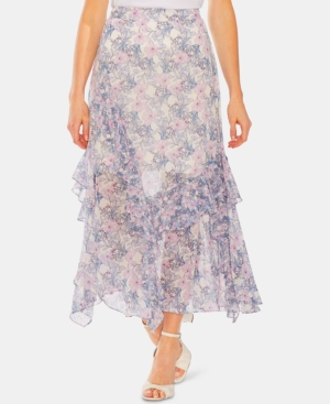 Vince Camuto Skirts FLORAL-PRINT RUFFLED SKIRT