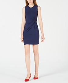 Maison Jules Dot-Print Knot-Waist Dress, Created for Macy's