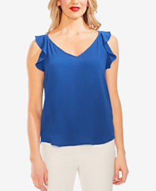 Vince Camuto Flutter-Shoulder Top