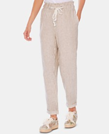 Vince Camuto Striped Paperbag Pants