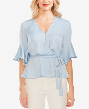 Vince Camuto Tops SURPLICE RUFFLED-SLEEVE BLOUSE