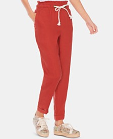 Vince Camuto Linen Slim-Leg Pull-On Pants