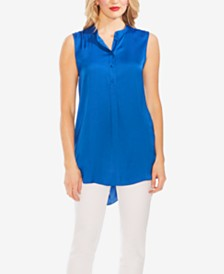 Vince Camuto Henley Sleeveless High-Low Tunic