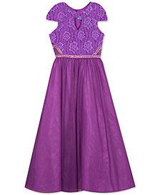 Rare Editions Big Girls Lace Maxi Dress