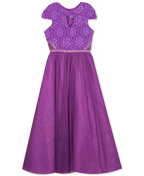 Rare Editions Big Girls Lace Maxi Dress