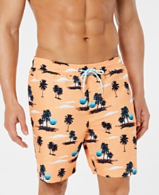 "Club Room Men's Sunset Quick-Dry 7"" Swim Trunks, Created for Macy's"