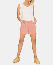 Midi Split Ripped Denim Shorts