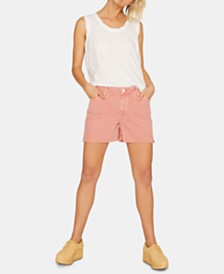 Sanctuary Midi Split Ripped Denim Shorts