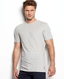 Men's Undershirt, Slim Fit Classic Cotton Crews 3 Pack