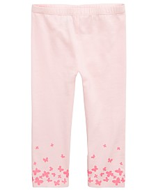 First Impressions Baby Girls Butterfly Border Leggings, Created for Macy's