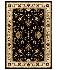 "CLOSEOUT! Kenneth Mink Area Rug, Warwick Tabriz Black/Wheat 7'10"" x 10'10"""