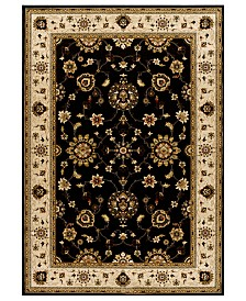 CLOSEOUT! Kenneth Mink Rugs, Warwick Tabriz Black/Wheat