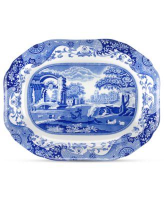 Dinnerware, Blue Italian Medium Oval Platter