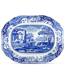 Dinnerware, Blue Italian Medium Oval Platter