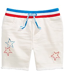 First Impressions Baby Boys Stars & Stripes Denim Shorts, Created for Macy's